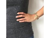 Round gourmet armband - Wit Goud/Hart