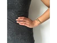 Ini mini solochain armband - Wit Goud