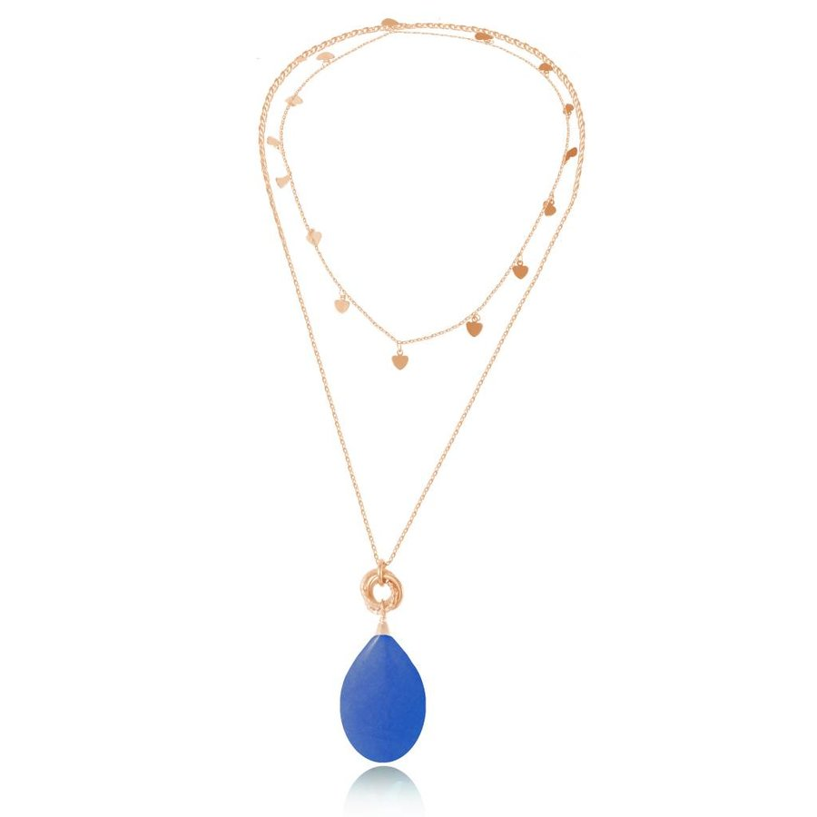 Pure stone lovers ketting - Rose/Cobalt