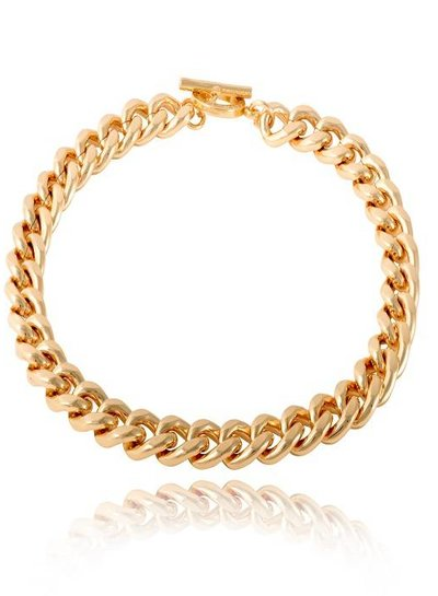 Small flat chain collier - Goud