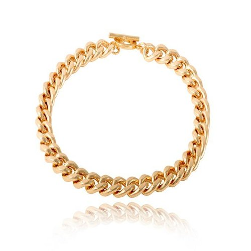 Small flat chain collier - Gold