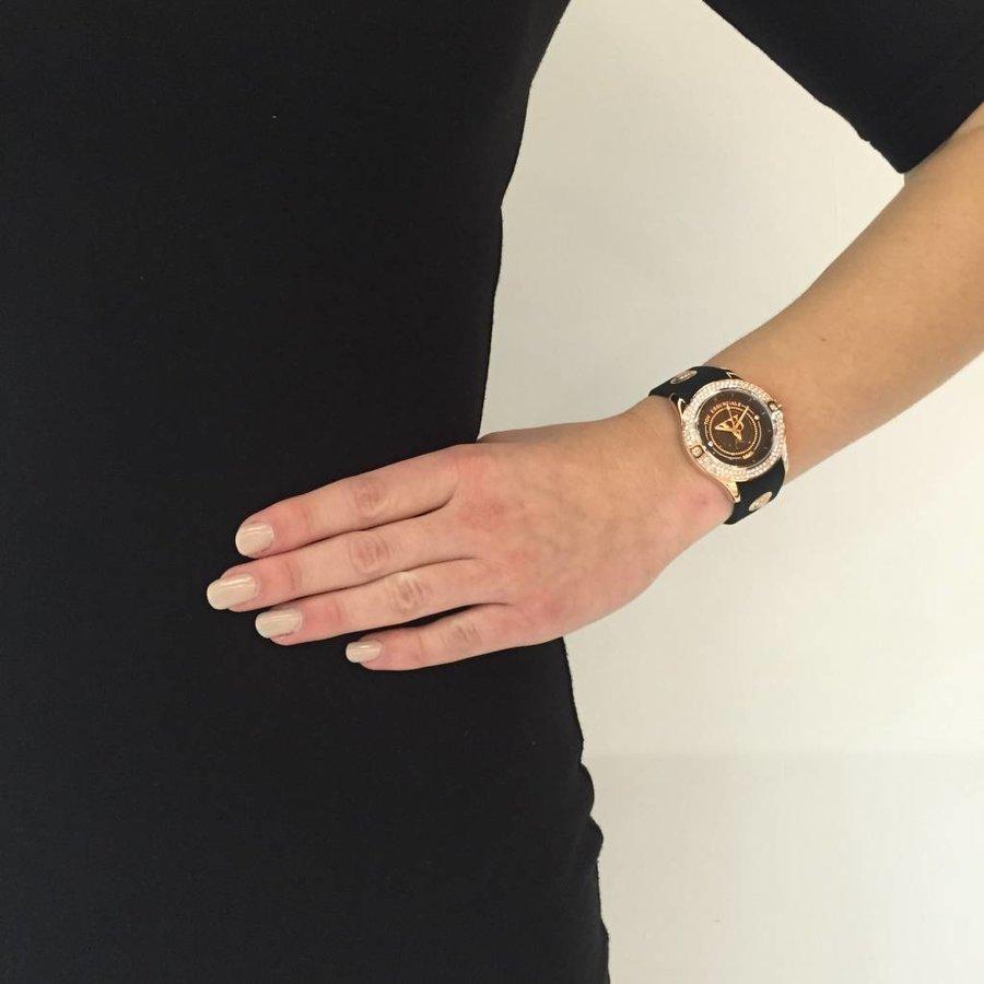 Black sea sparkle rose/black watch