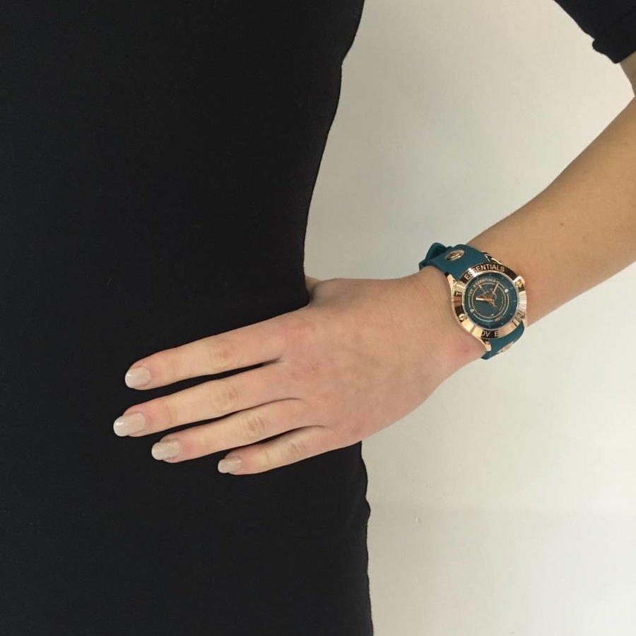 Atlantis rose/caribbean blauw horloge