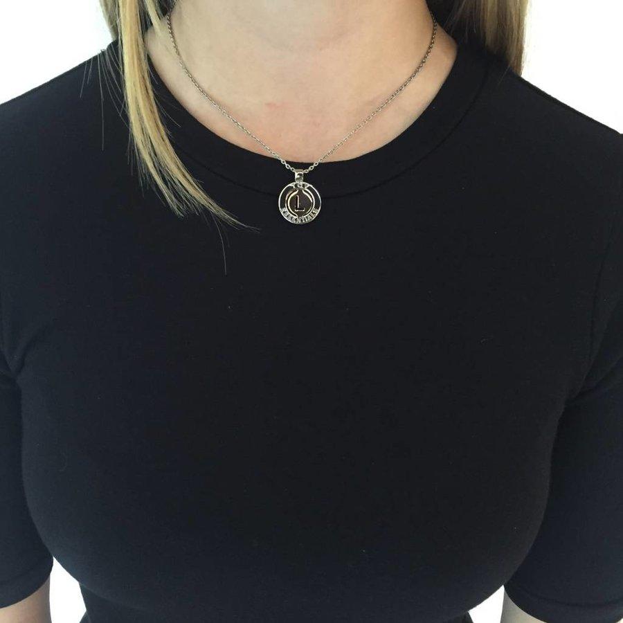 Iniziali necklace 2.0 - Gold/White Gold - Letter R