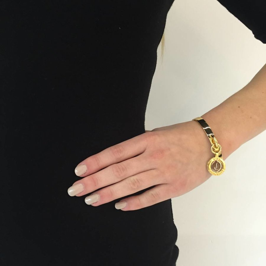Iniziali bangle (Armband) 2.0 - Wit Goud/Rose - Letter N