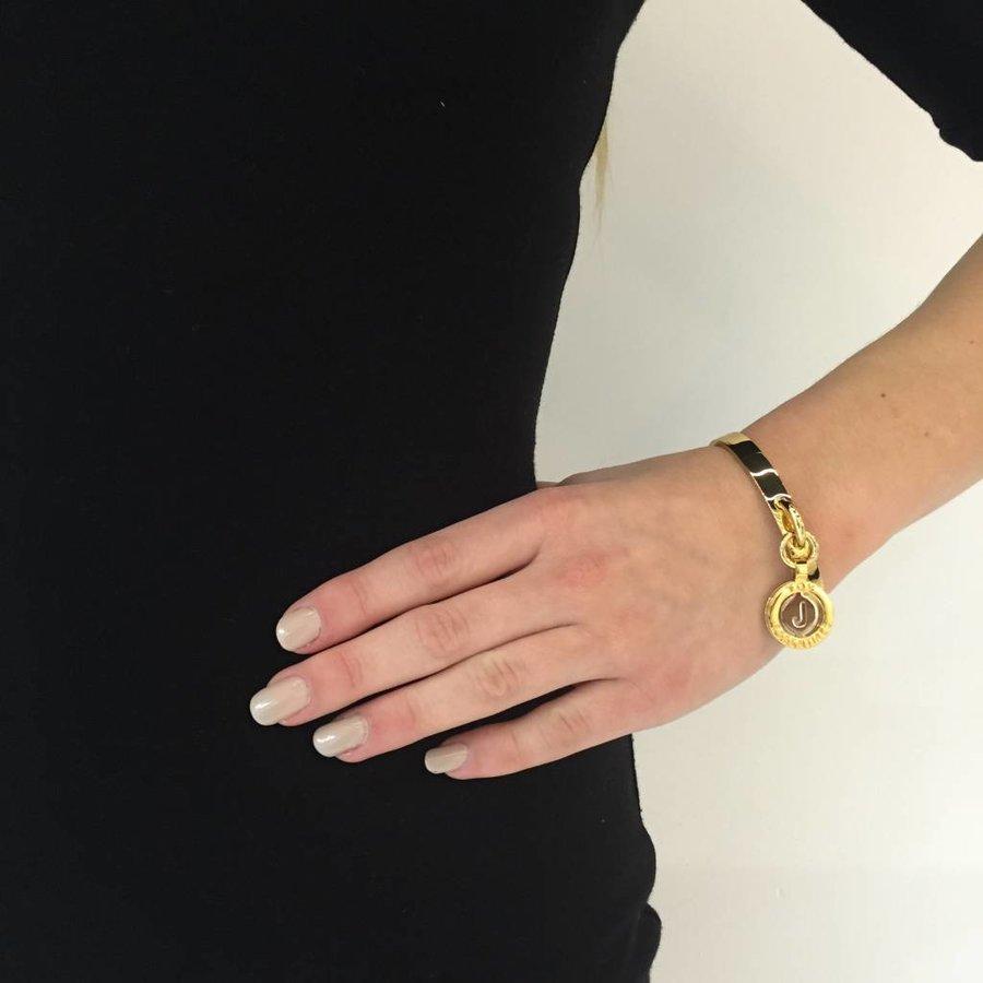 Iniziali bangle 2.0 - Rose/White Gold - Letter R