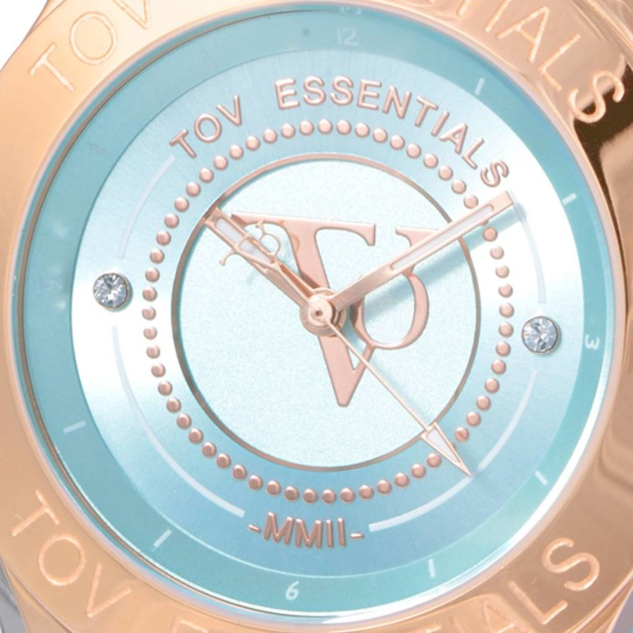 Blue Bay mint green/rose watch