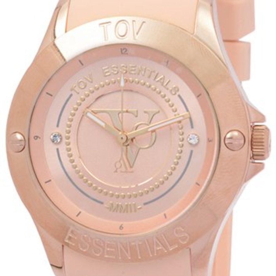 Tropical Beach - Rose - Horloge