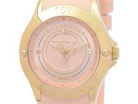 Tropical beach gold horloge