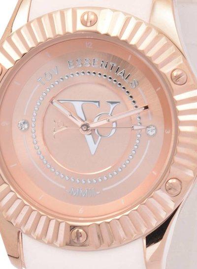 White beach rose horloge