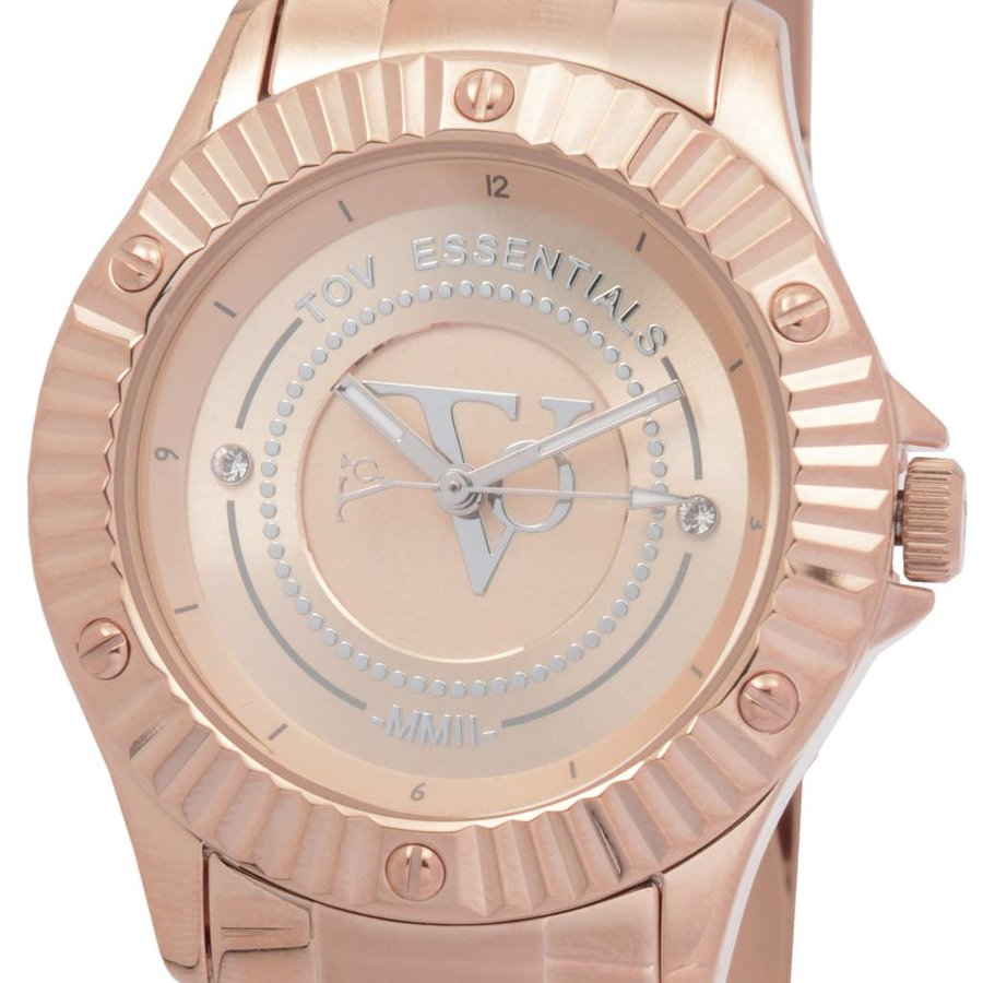 Golden sun rose horloge