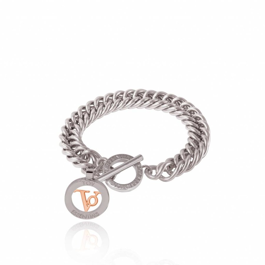Mini mermaid bracelet - Rose - white gold