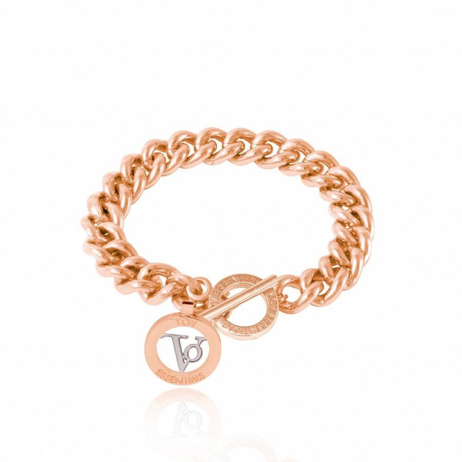 Mini mermaid bracelet - white gold - rose