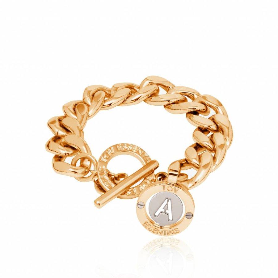 Iniziali - flat chain bracelet