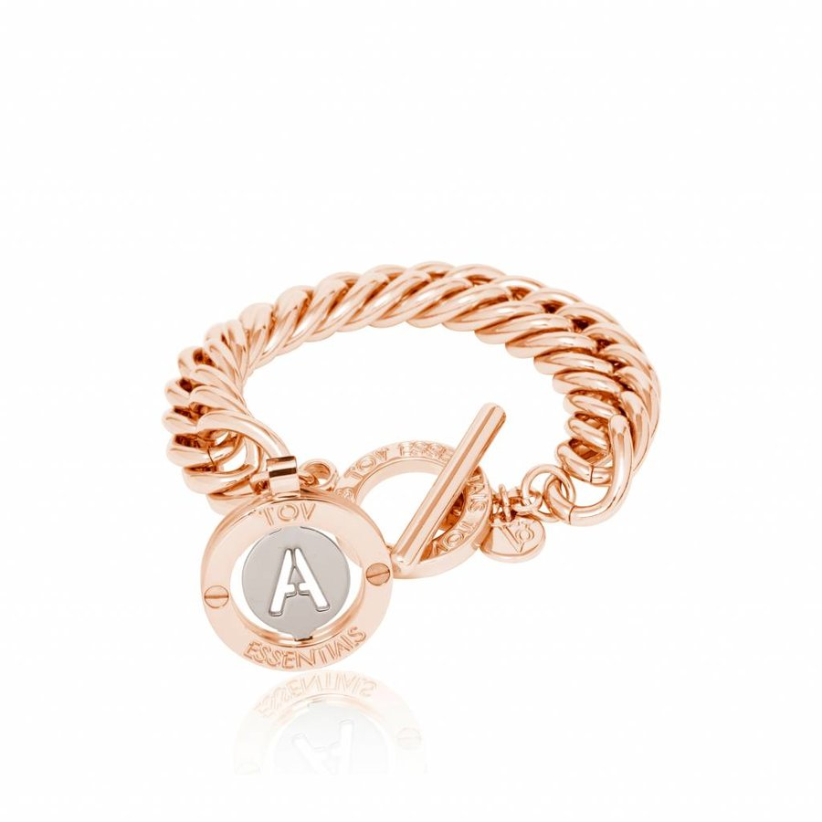 Iniziali -  mermaid - schakel armband