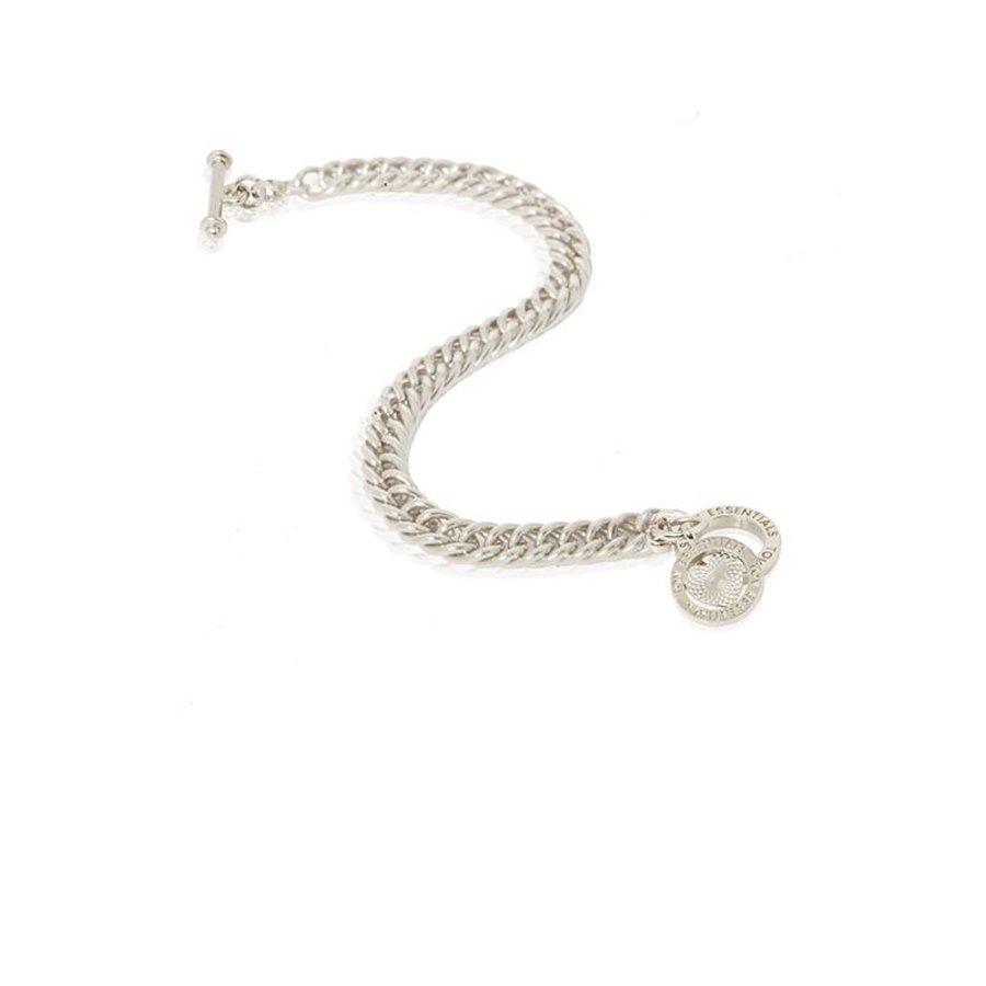 Ini mini mermaid armband - wit goud - hart -