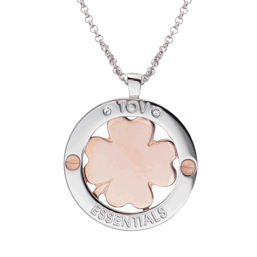 85 cm ketting - klavervier pendant