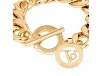 Small flat chain armband -  Goud