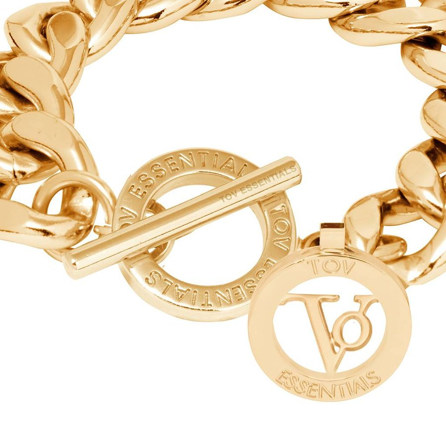 Small flat chain bracelet- Gold