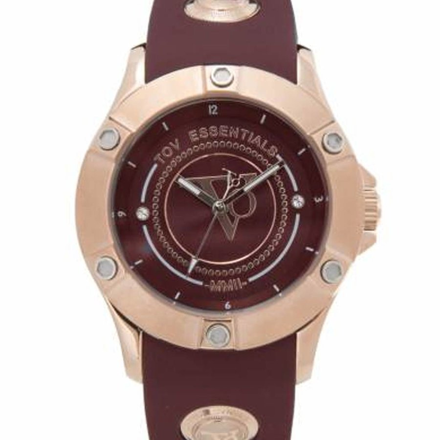 Pearl Harbour - Burgundy - Rose - Horloge