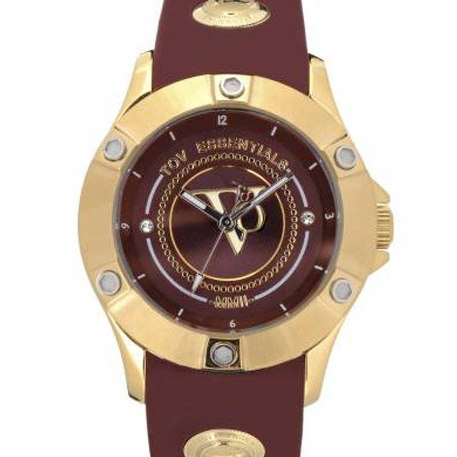 Pearl Harbour - Burgundy - Gold - Horloge