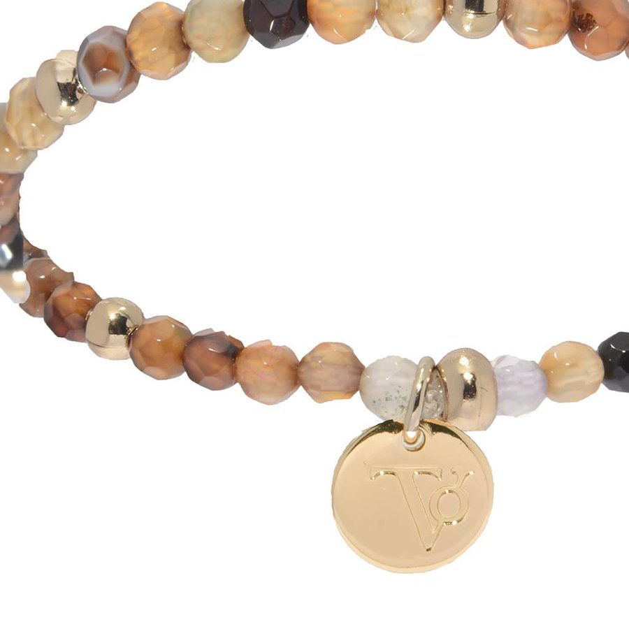 Romancing The Stones - Armband - Brown/Light Gold