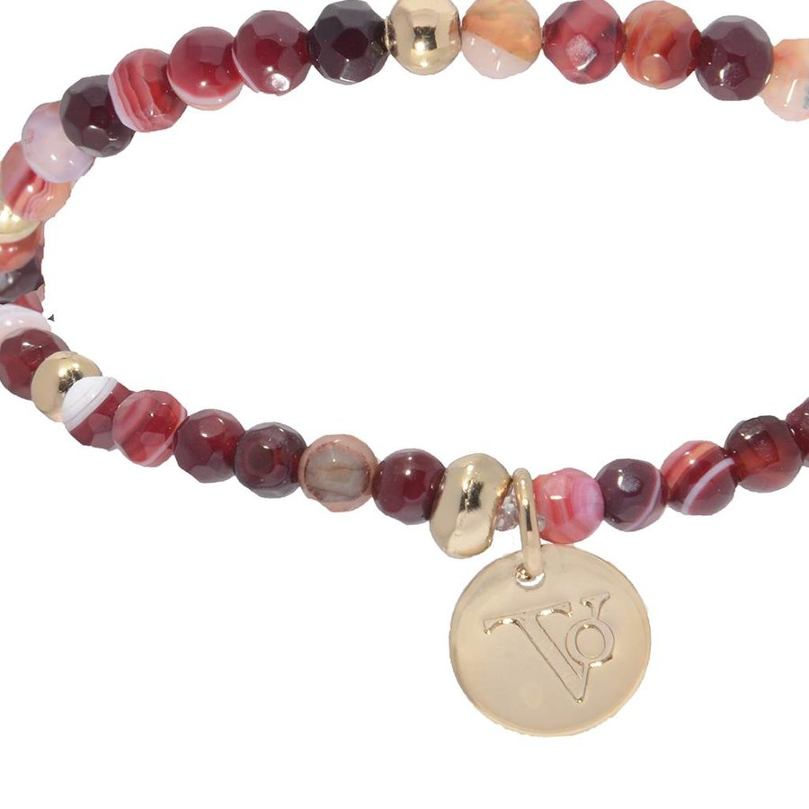 Romancing the stones bracelet - Burgundy/Light Gold