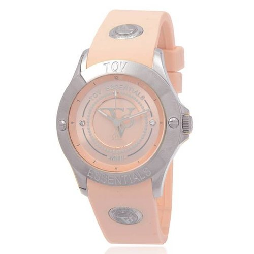 Tropical beach steel horloge