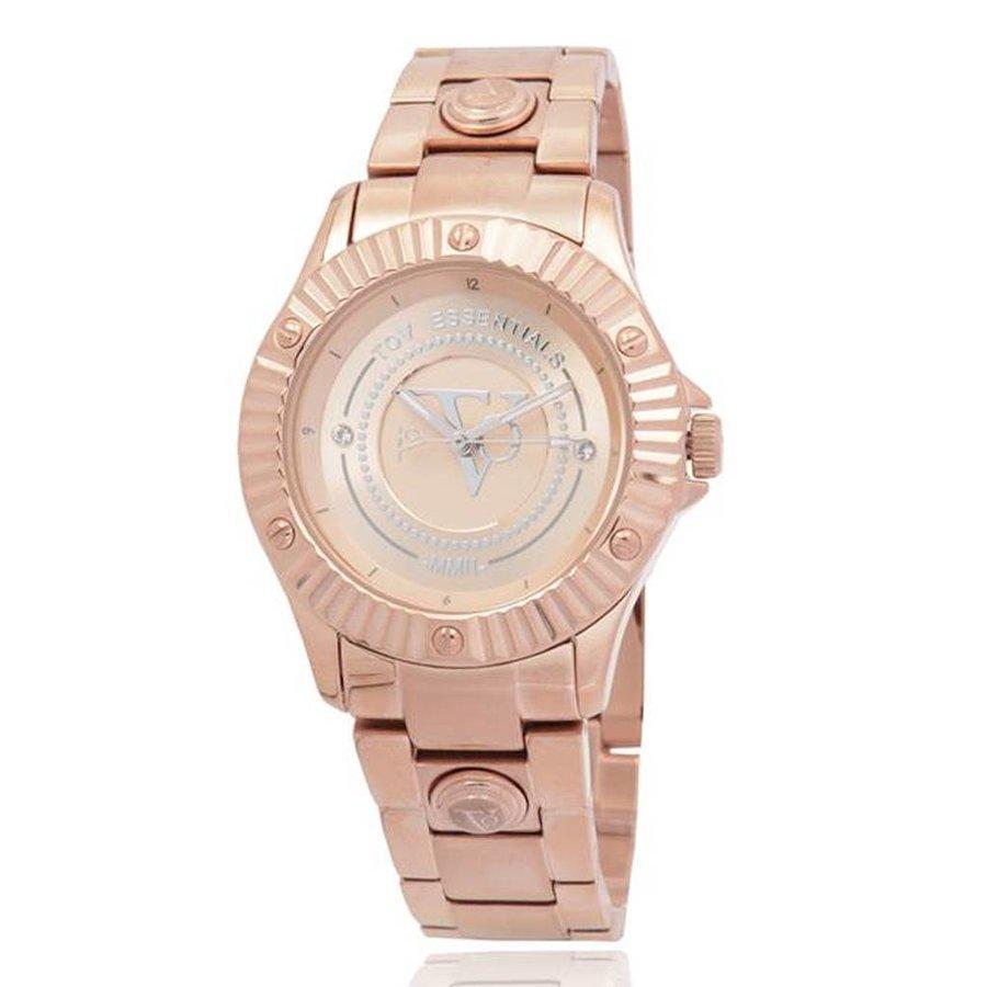 Golden sun rose watch
