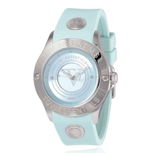 Blue Bay mint green/steel watch