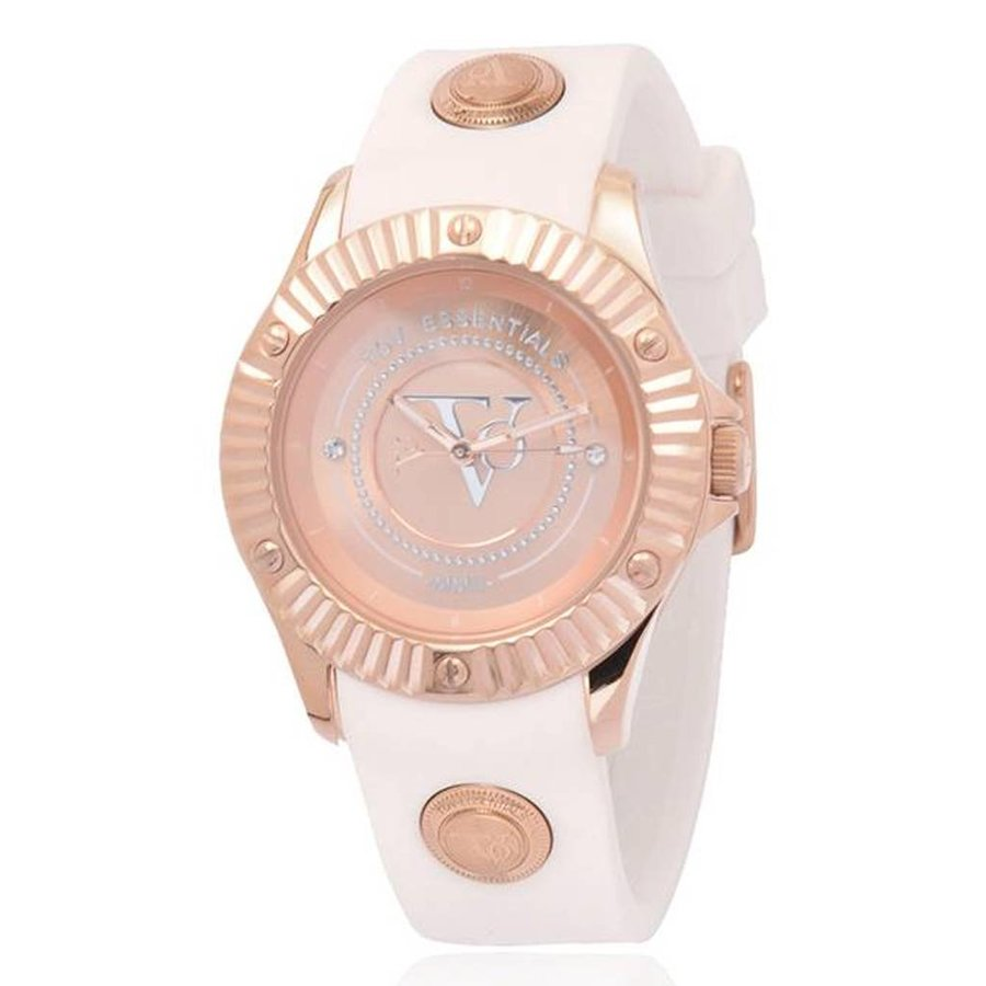 White beach rose horloge