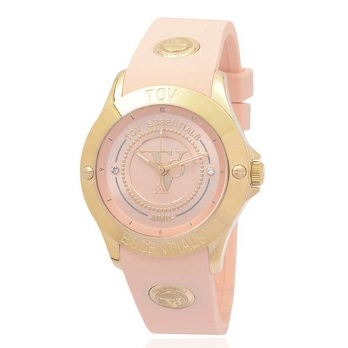 Tropical beach gold horloge