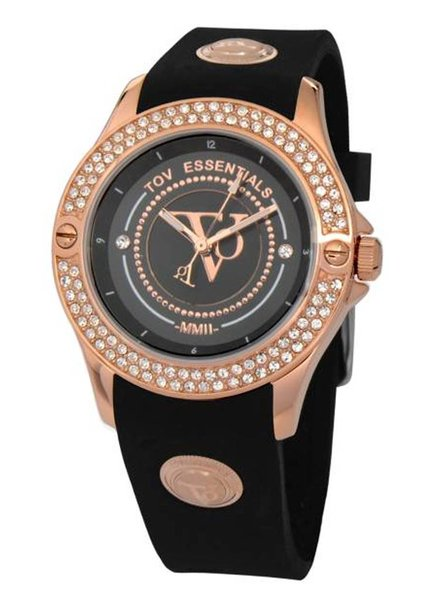 Black sea sparkle rose/zwart horloge