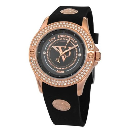 Black sea sparkle rose/zwart horloge