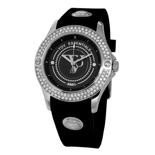 Black sea sparkle white gold/black watch