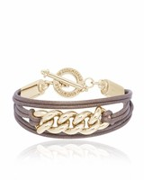Lots of cord & chain bracelet