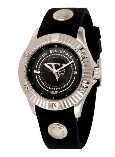Black sea treasure zwart/zilver horloge