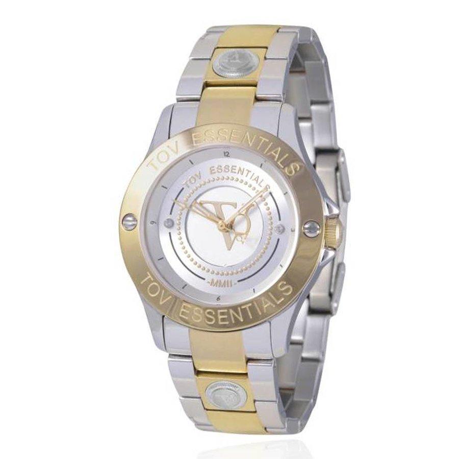 TOV steel/goud horloge