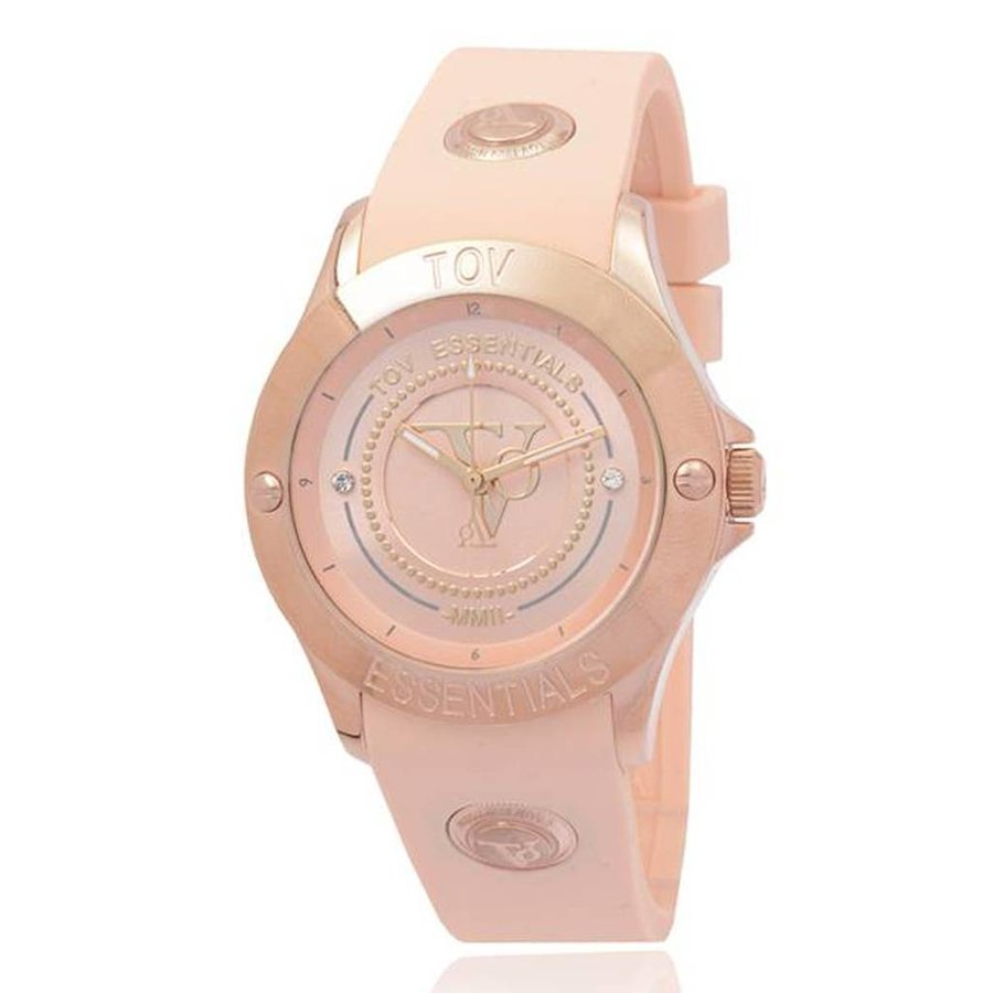 Tropical beach rose horloge