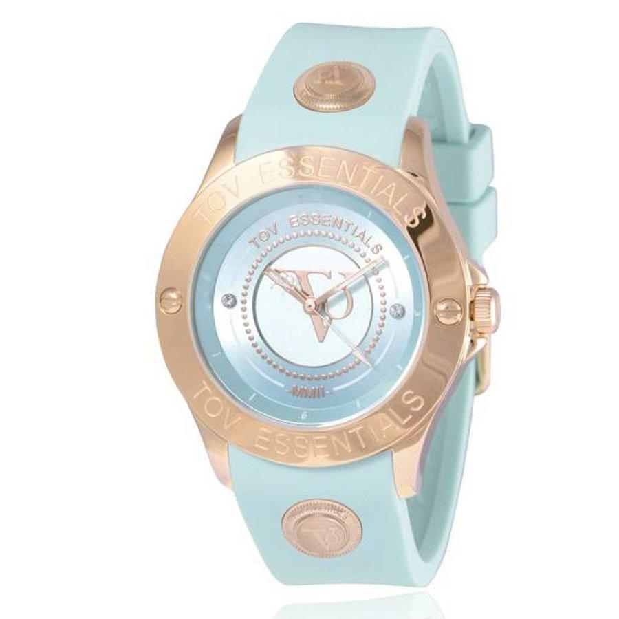 Blue Bay mintgroen/rose horloge