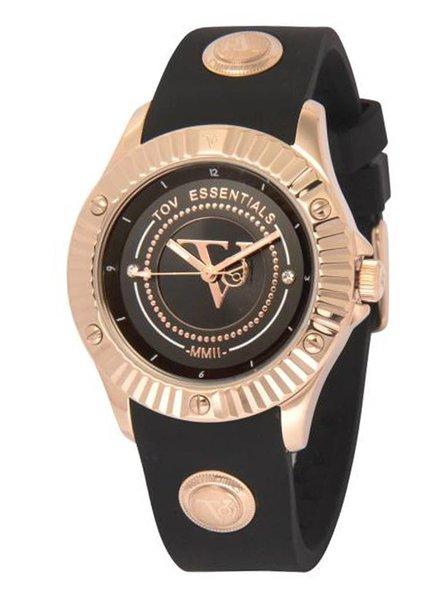 Black sea treasure zwart/rose horloge