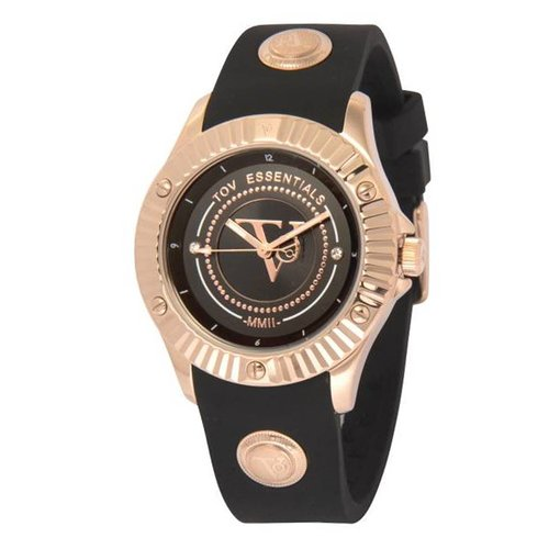 Black sea treasure zwart/rose horloge
