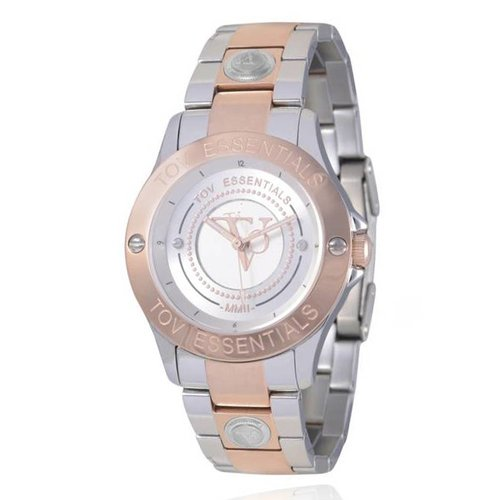 TOV steel/rose horloge