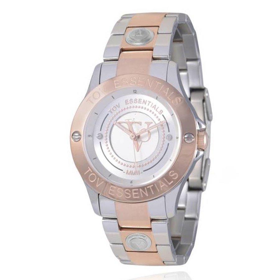 TOV steel/rose watch