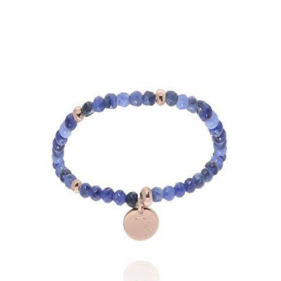 Romancing the stones bracelet - Blue/Rose Gold