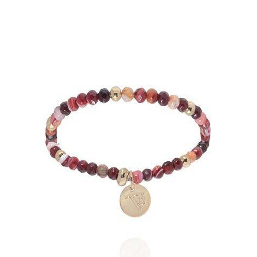 Romancing the stones bracelet - Burgundy/Light Gold