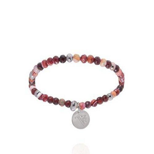 Romancing the stones bracelet - Burgundy/White Gold