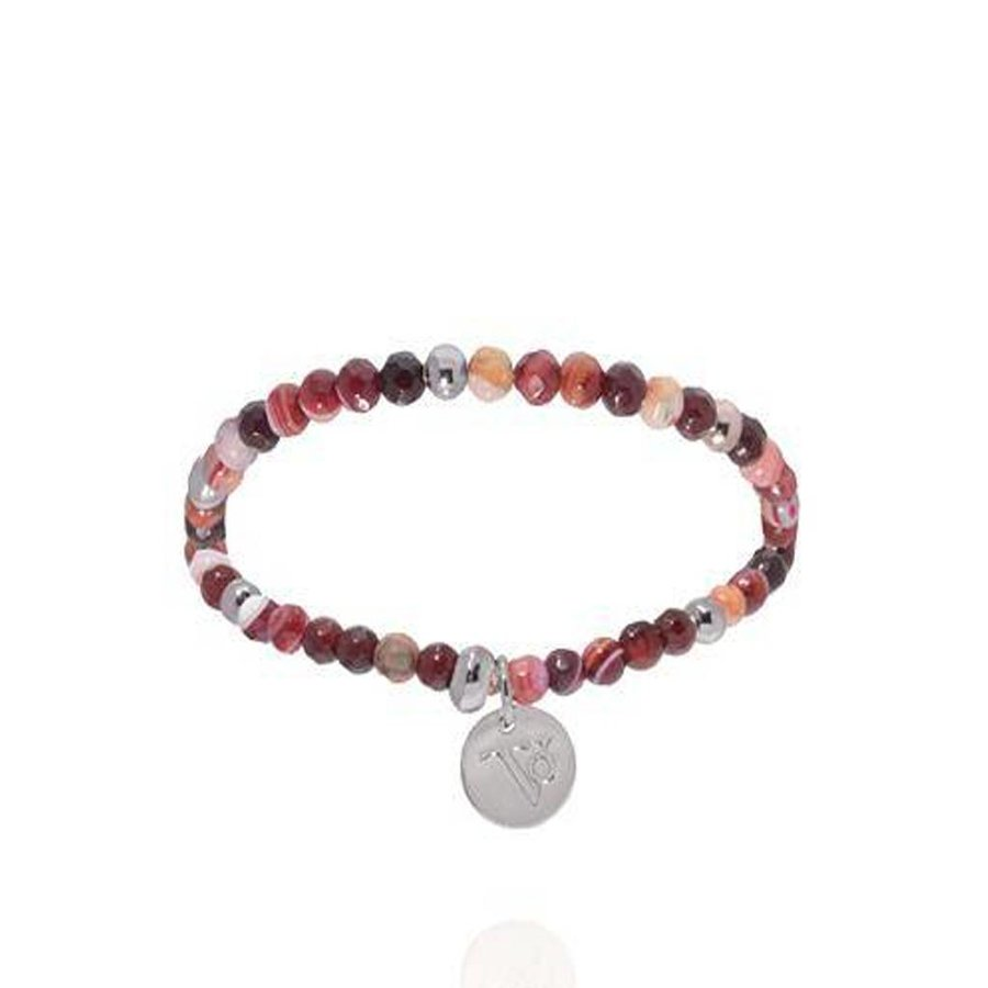 Romancing The Stones - Armband - Burgundy/White Gold