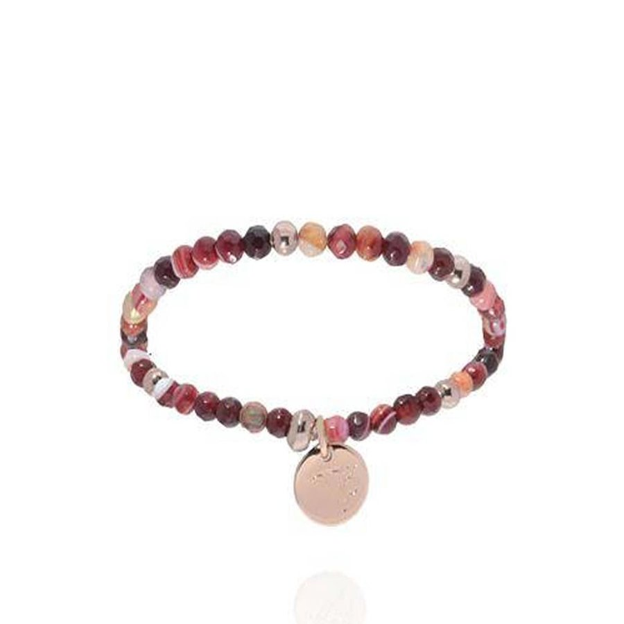 Romancing The Stones - Armband - Burgundy/Rose Gold