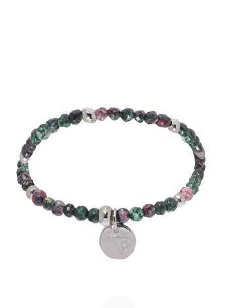 Romancing the stones bracelet - Emerald/White Gold
